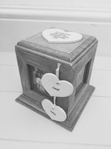 Shabby Chic Rustic Wood Style Personalised Engagement Gift Photo Cube Box - 232499982318